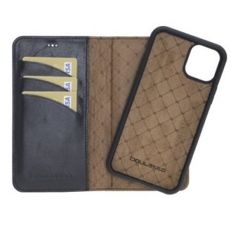 Bouletta Echt Leder Magic Wallet iPhone 11 Schwarz