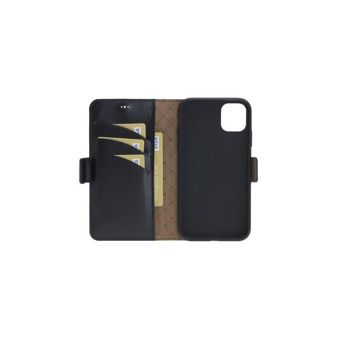 Bouletta Echt Leder iPhone 11 Book Wallet Schwarz