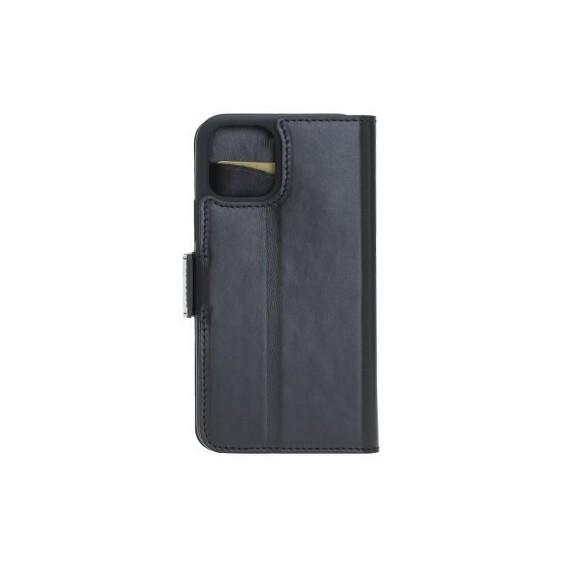 Bouletta Echt Leder iPhone 11 Pro Book Wallet Schwarz