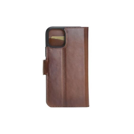 Bouletta Echt Leder iPhone 11 Pro Book Wallet Braun
