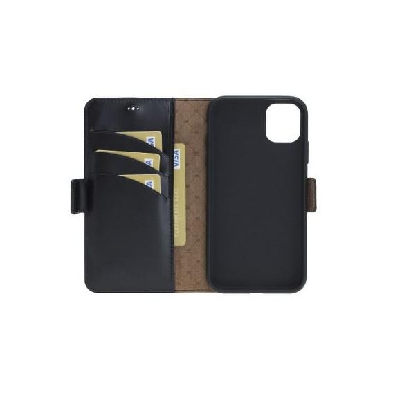 Bouletta Echt Leder iPhone 11 Pro Max Book Wallet Schwarz