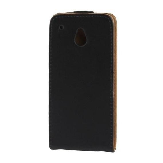 Schwarz Flip Leder HTC One Mini M4