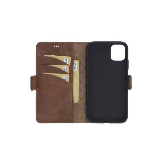 Bouletta Echt Leder iPhone 11 Pro Max Book Wallet Antik Braun