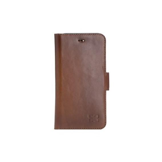 Bouletta Echt Leder iPhone 11 Pro Max Book Wallet Braun