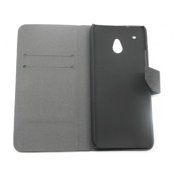 Schwarz Leder Kreditkarte HTC One Mini M4