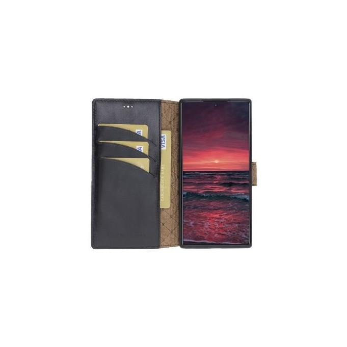 Bouletta Echt Leder Galaxy Note 10 Book Wallet Schwarz