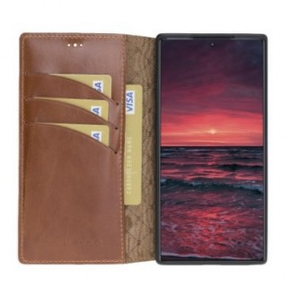 Bouletta Echt Leder Galaxy Note 10 Book Wallet Braun