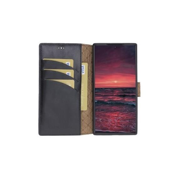 Bouletta Echt Leder Galaxy Note 10 Plus Book Wallet Schwarz
