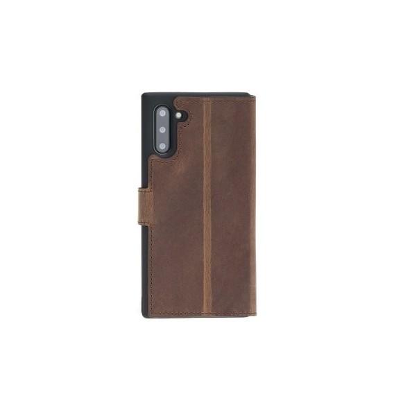 Bouletta Echt Leder Galaxy Note 10 Plus Book Wallet Antik Braun