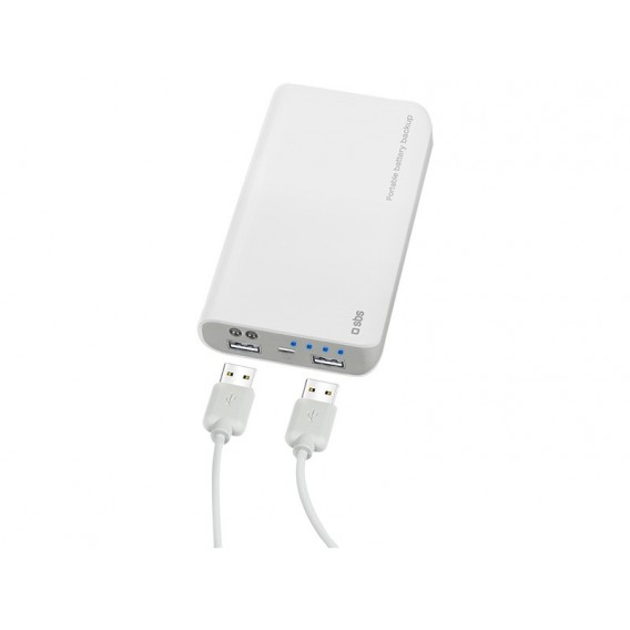 SBS Powerbank 10.400 mAh, White