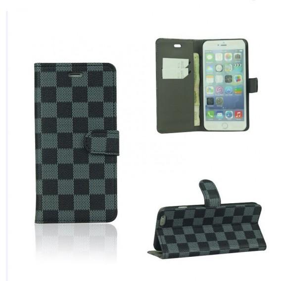 Schwarz PU Leder Kreditkarte Etui iPhone 6 4,7