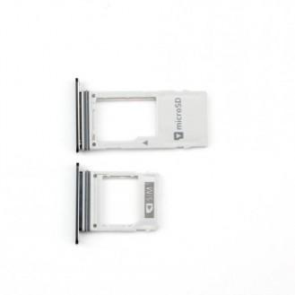 Sim Tray kompatibel mit Samsung Galaxy A8 Plus 2018, Schwarz