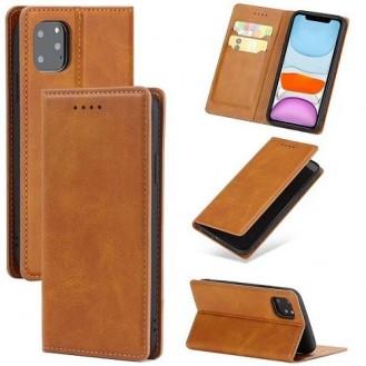 Magnetverschluss Kartenhalter Leder-Telefonkasten Für Apple IPhone 11, Braun