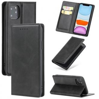 Magnetverschluss Kartenhalter Leder-Telefonkasten Für Apple IPhone 11, Schwarz