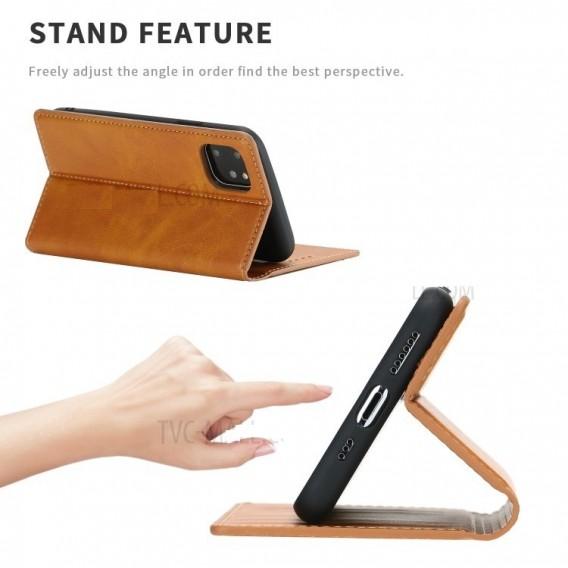 Magnetverschluss Kartenhalter Leder-Telefonkasten Für Apple