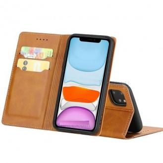 Magnetverschluss Kartenhalter Leder-Telefonkasten Für Apple IPhone 11 Pro Max, Braun