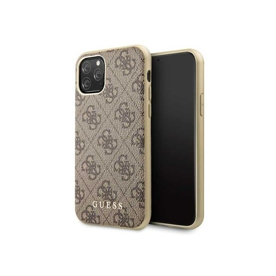 iPhone 11 Pro Guess Charms 4G Schutzhülle Case Hard cover Braun