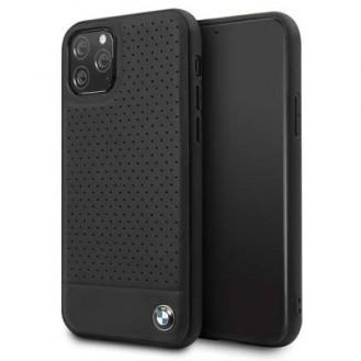 iPhone 11 BMW Leder TPU Cover Case Schutzhülle Schwarz