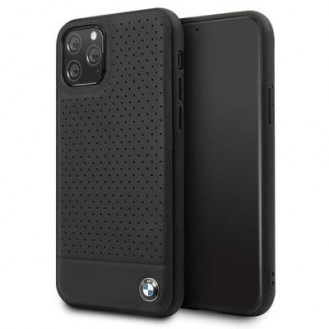 iPhone 11 Pro Max BMW Perforated Leder TPU Cover Case Schutzhülle Schwarz