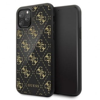 iPhone 11 Guess 4G Dobble Layer Glitter Case Cover Schwarz