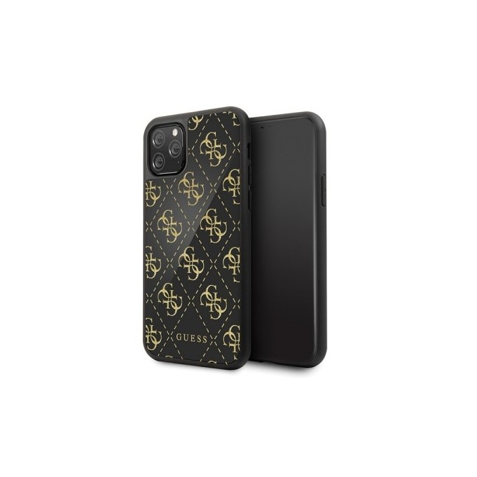 iPhone 11 Pro Guess 4G Dobble Layer Glitter Case Cover Schwarz