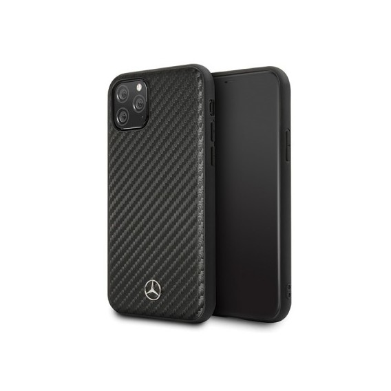 iPhone 11 Mercedes Benz Dynamic Carbon Case Hard Cover Schwarz
