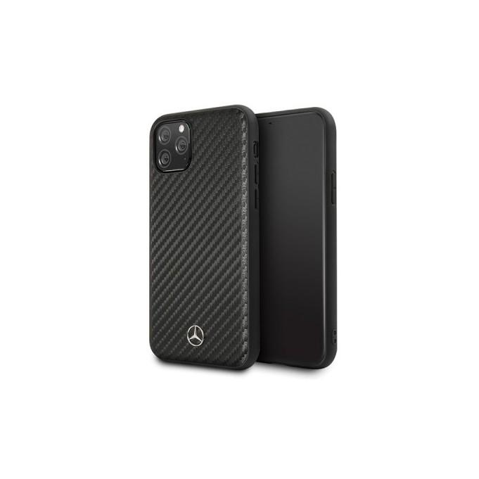 iPhone 11 Pro Max Mercedes Benz Dynamic Carbon Case Hard Cover Schwarz