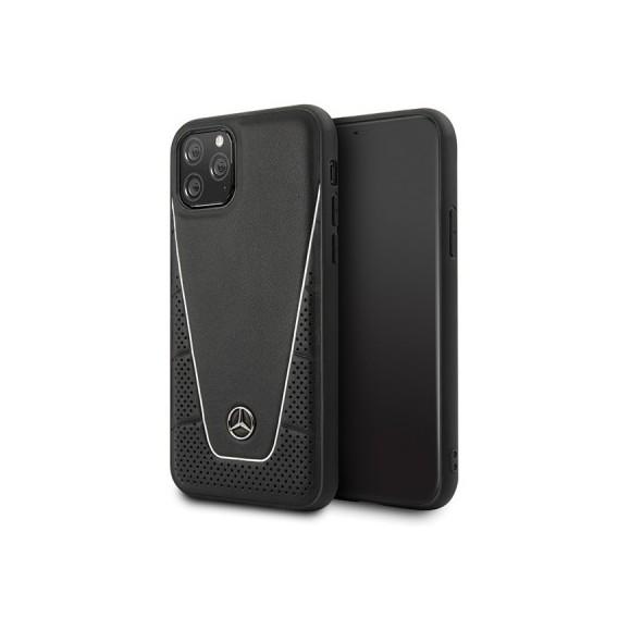 iPhone 11 Pro Max Mercedes Benz Quilted Echtes Leder Case