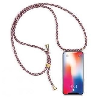 More about PT line TPU Schutzhülle mit Umhängeband für iPhone X/XS, Transparent / Mix Rot, Gold, Silber