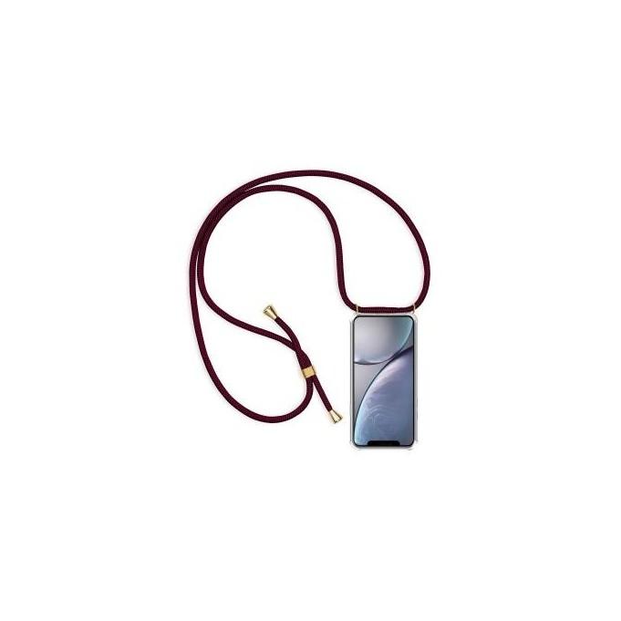 PT line TPU Schutzhülle mit Umhängeband für iPhone XS Max, Transparent / Lila