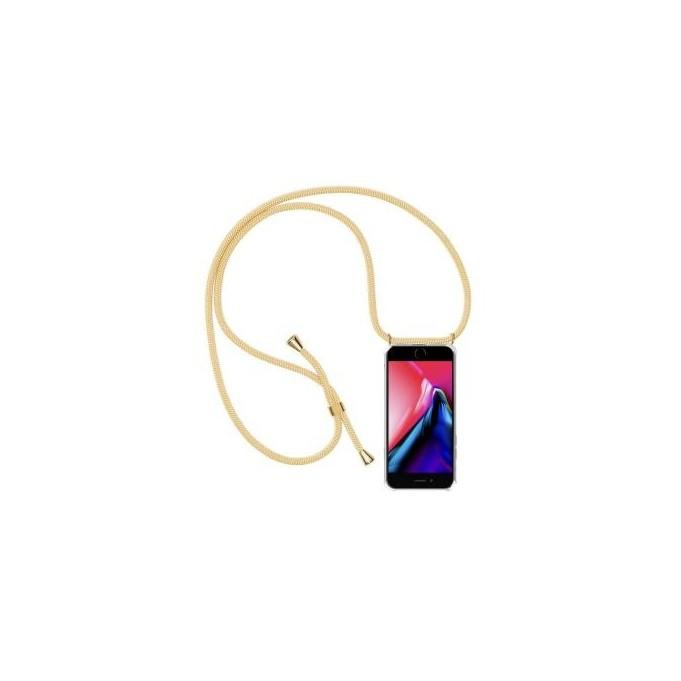 PT line TPU Schutzhülle mit Umhängeband für iPhone 7 Plus/ 8 Plus ,Transparent / Aprikose