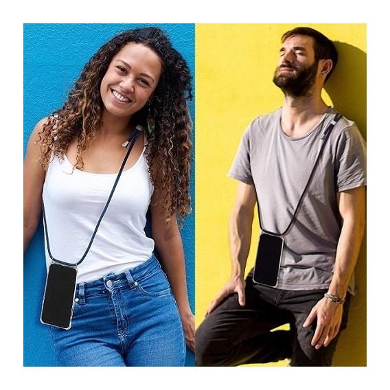 PT line TPU Schutzhülle mit Umhängeband für iPhone 7 Plus/ 8