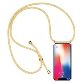 More about PT line TPU Schutzhülle mit Umhängeband für iPhone X/XS, Transparent / Aprikose