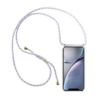 More about PT line TPU Schutzhülle mit Umhängeband für iPhone XS Max, Transparent / Mix Weiss, Schwarz