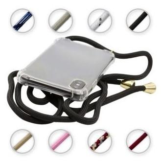 PT line TPU Schutzhülle mit Umhängeband für iPhone 11 Pro Max, Transparent / Schwarz