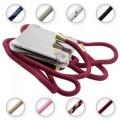 PT line TPU Schutzhülle mit Umhängeband für iPhone 11 Pro Max, Transparent / Dunkelrot