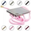 PT line TPU Schutzhülle mit Umhängeband für Samsung Galaxy S10 Plus, Transparent / Pink