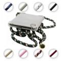 PT line TPU Schutzhülle mit Umhängeband für iPhone 11 Pro, Transparent / Mix Grün, Weiss, Schwarz