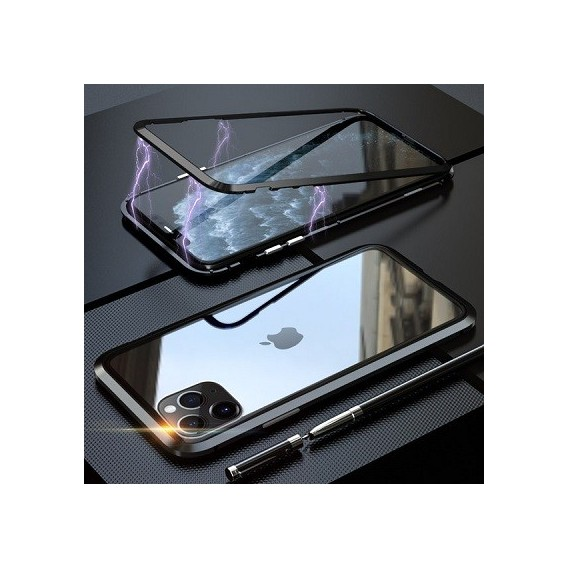 360° Magnet Cover Hülle iPhone 11 Pro Schwarz