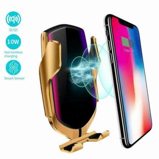 IR Sensor Qi Auto KFZ Handy Halterung Halter Wireless Ladegerät Huawei iPhone