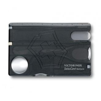 Victorinox SwissCard Nailcare, Schwarz Transparent