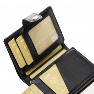 Bouletta Palermo Kreditkarten Leder Etui Geldbörse mit Kartenauswurf-Mechanismus (RFID Schutz) - Schwarz