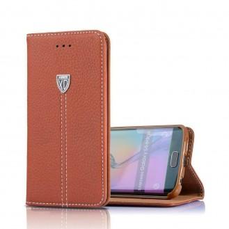 Braun Edel Leder Etui Galaxy S8