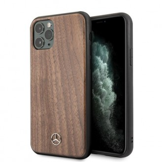 iPhone 11 Pro Mercedes Benz Wood Line Walnut Case MEHCN58VWOLB
