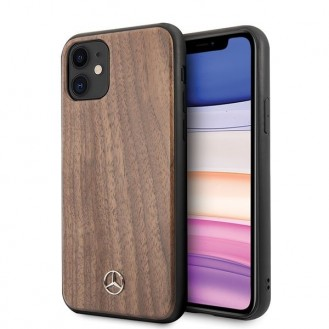 iPhone 11 Mercedes Benz Wood Line Walnut Case MEHCN61VWOLB