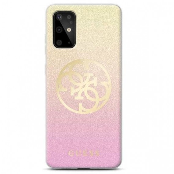 Guess Glitter Case Gradient Cover Hülle Rose Gold für Samsung Galaxy S20 ultra