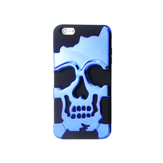 "Skull-Kopf-Soft Hülle iPhone 6 4.7"" Blau"
