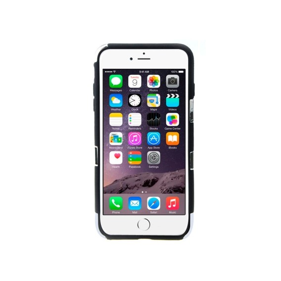 "Skull-Kopf-Soft iPhone 6 4.7"" Weiss"