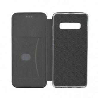 Samsung Galaxy S10 Plus Leder Hülle Etui Schwarz