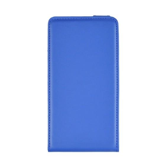 Blau Flip Leder Etui Tasche Note 4